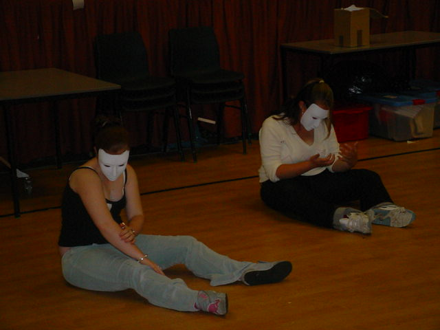 Exploring mask work in Drama Workshop at secondary school with TK Arts