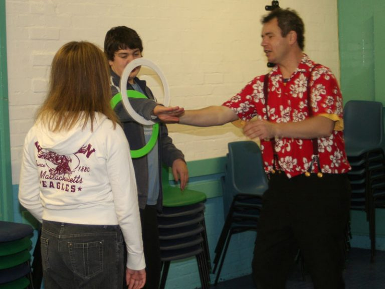 ring juggling at youth club