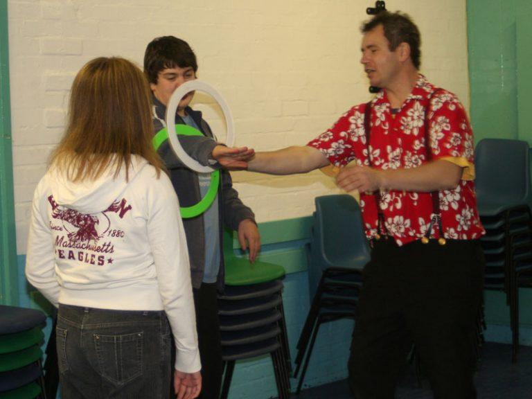 ring juggling at youth club