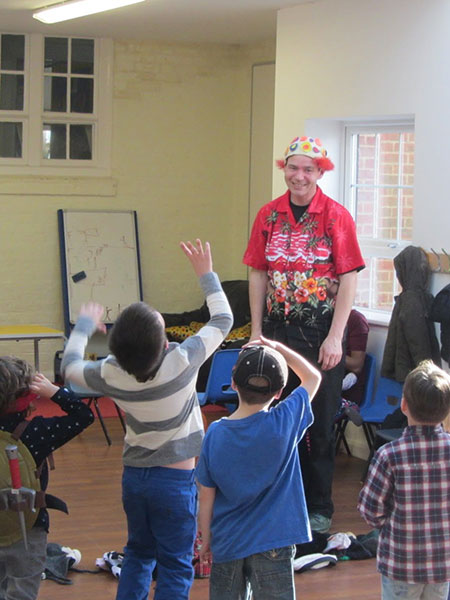 TK-Arts-teaches-slapstick-comedy-at-circus-party-for-children